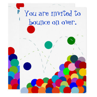 Bouncing Party Invitation