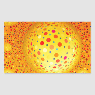 Bouncing Spotted Balls Rectangle Sticker