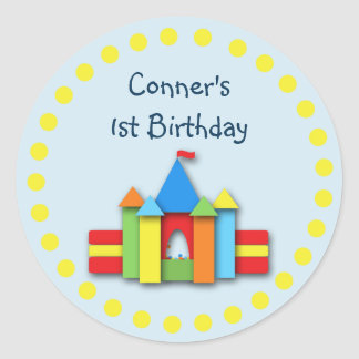 Bouncy Bithday Invitation Seal or Address Label