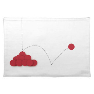 Bouncy red dot placemat