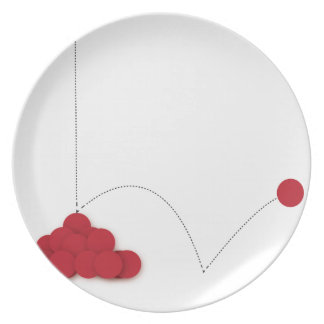 Bouncy red dot plate