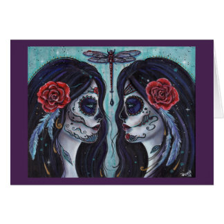 Bound day of the dead art card by Renee Lavoie