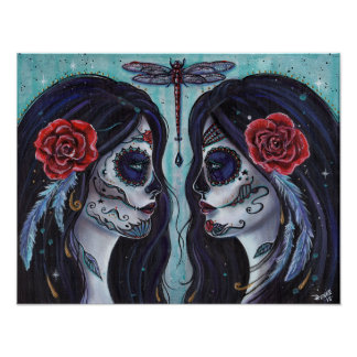 Bound day of the dead art poster by Renee Lavoie
