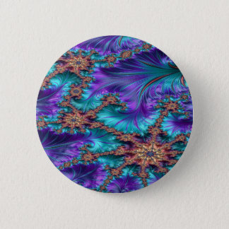 Boundary and Conflict Fractal Design 2 Inch Round Button