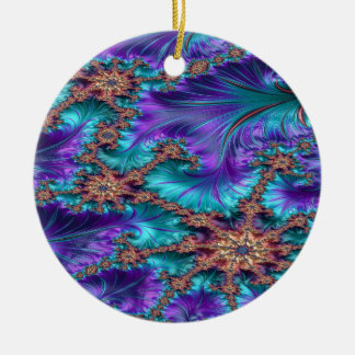 Boundary and Conflict Fractal Design Ceramic Ornament