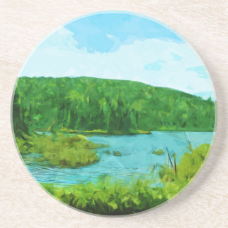 Boundary Waters Canoe Area Minnesota Abstract Beverage Coasters