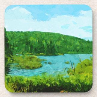 Boundary Waters Canoe Area Minnesota Abstract Coasters