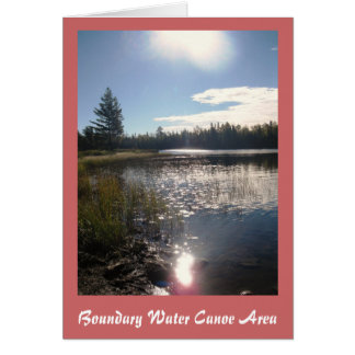 Boundary Waters Canoe Area Note Card