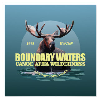 Boundary Waters CAW (Moose) WT Poster