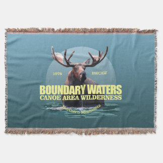 Boundary Waters CAW (Moose) WT Throw Blanket