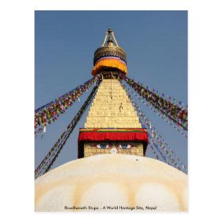 Boundhanath Stupa - A World Heritage site in Nepal Postcard