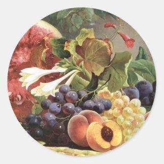 Bounties of Nature Classic Round Sticker