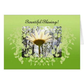 Bountiful Blessings Greeting Card! Card