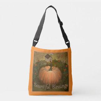 Bountiful Blessings Purse /Tote Primitive Folk Art Crossbody Bag
