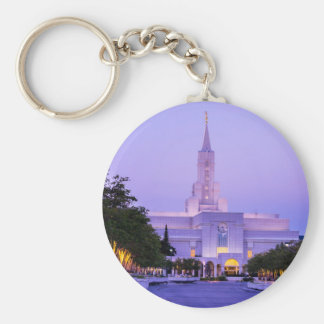 Bountiful LDS Mormon Temple Sunrise - Utah Basic Round Button Keychain