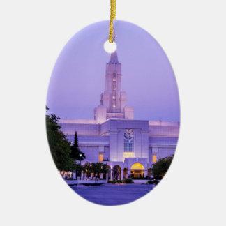 Bountiful LDS Mormon Temple Sunrise - Utah Ceramic Ornament