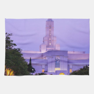 Bountiful LDS Mormon Temple Sunrise - Utah Kitchen Towels