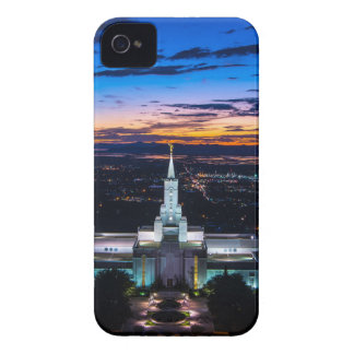 Bountiful Lds Mormon Temple Sunset Case-Mate iPhone 4 Cases