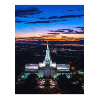 Bountiful Lds Mormon Temple Sunset Personalized Letterhead