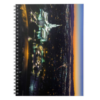 Bountiful Lds Mormon Temple Sunset Spiral Note Book