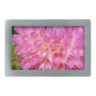 Bountiful Pink Dahlia and Bud Poster Belt Buckle