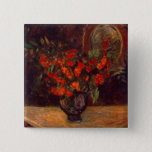 Bouquet, 1884 2 inch square button