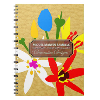 Bouquet Blossoms Decorative Gold Modern Notebook