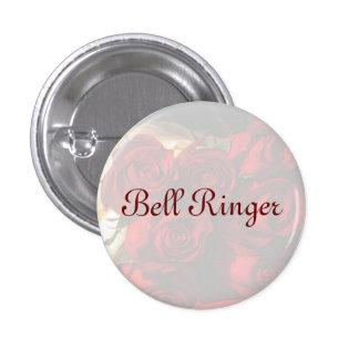 """Bouquet de rose rouge """"de sonnerie de Bell"""" - (1) Macaron Rond 2,50 Cm"""