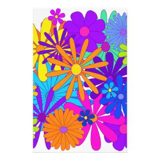 Bouquet Flowers Floral Colors Design Stationery Paper