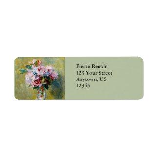 Bouquet in a Vase by Pierre-Auguste Renoir Return Address Label
