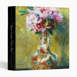 Bouquet in a Vase Pierre Auguste Renoir painting 3 Ring Binders