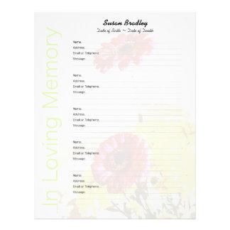 Bouquet - Memorial Guest Book Custom Filler Pages