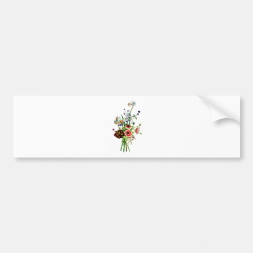 Bouquet of Anemone Auricula & Narcissis by Prevost Bumper Sticker
