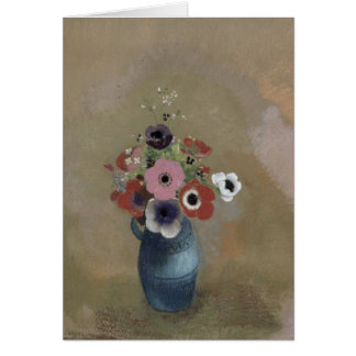 Bouquet of anemones card