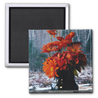 Bouquet of chrysanthemums magnet