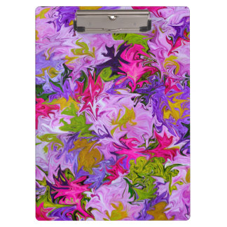 Bouquet of Colors Abstract Art Design Clipboard