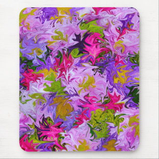 Bouquet of Colors Abstract Art Design Mousepad