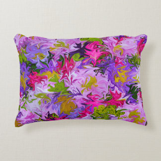 Bouquet of Colors Floral Abstract Art Design Accent Pillow