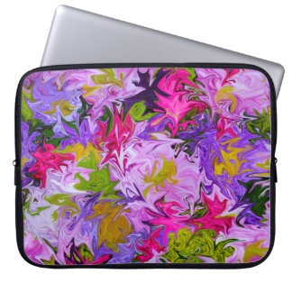 Bouquet of Colors Floral Abstract Art Design Laptop Sleeve