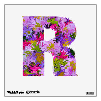 Bouquet of Colors Floral Abstract Art Design R Wall Decal