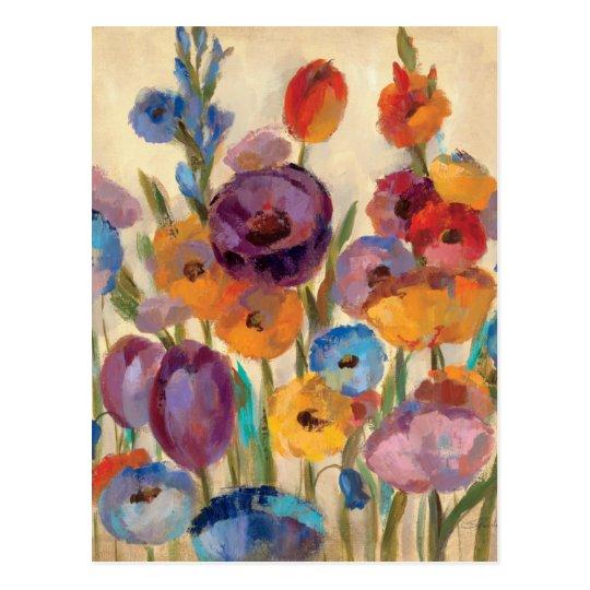 Bouquet of Colourful Flowers Postcard