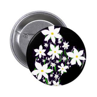 Bouquet of daisies 2 inch round button