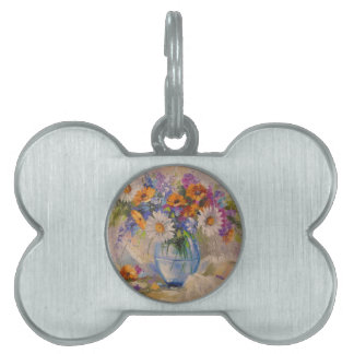 Bouquet of field pet tag