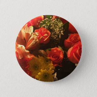 Bouquet of Flowers 2 Inch Round Button