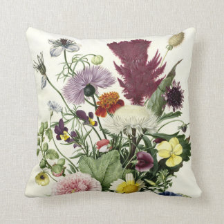 Bouquet of Flowers, Anonymous, 1680 Throw Pillow