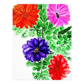 Bouquet of Flowers Art2 Letterhead