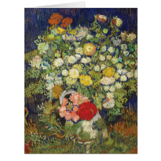 Bouquet of Flowers by van Gogh Large Greeting Card
