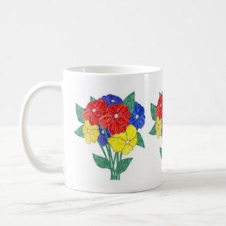 Bouquet of flowers classic white coffee mug