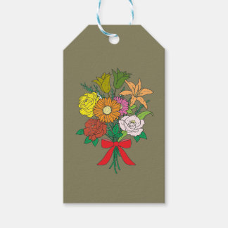 Bouquet of Flowers Gift Tags