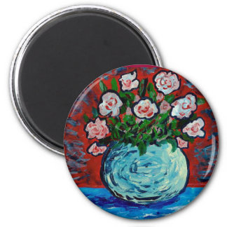 Bouquet of flowers impressionist art magnet